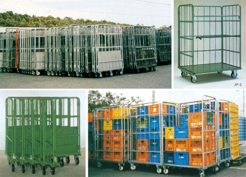 rolling container cage