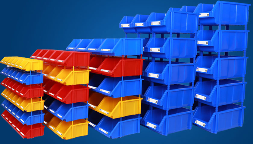 stackable plastic storage bins