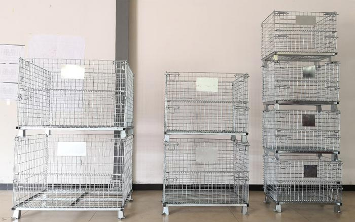 used collapsible wire containers