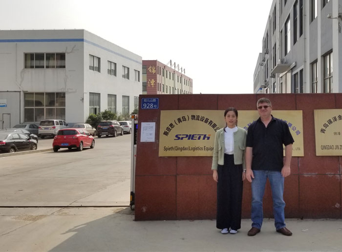 Canada Client Visit Our Trolley Cart Factory