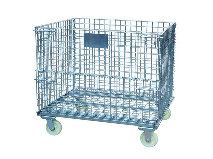 Wire mesh container cage