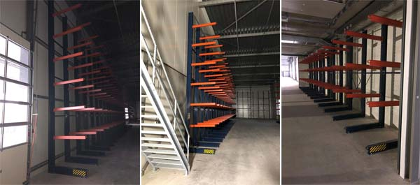Production process of cantilever pipe storage racks