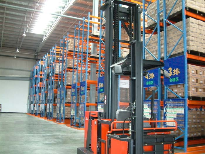 What is green storage rack warehouse