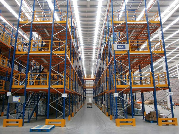 What are the main applications of mezzanine floor pallet racking