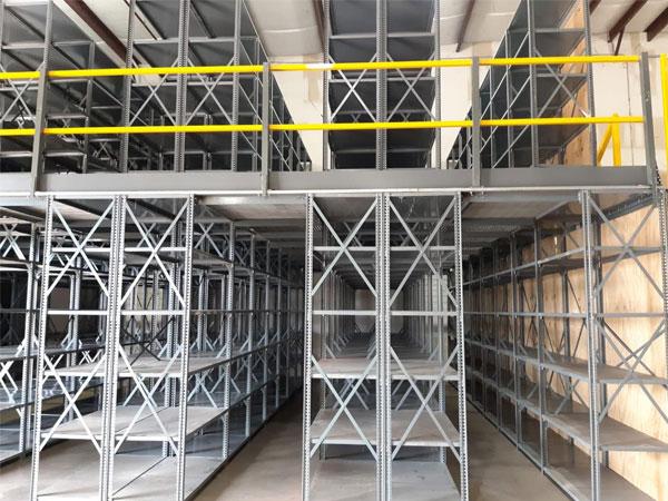 Spieth mezzanine floor racking system