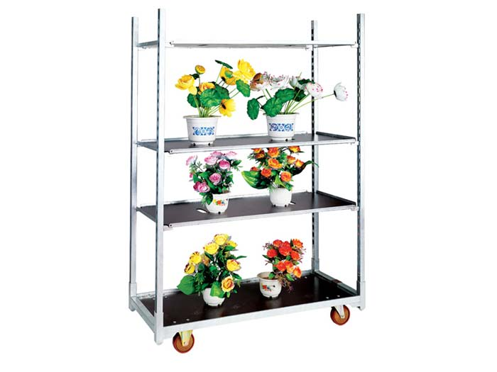 Greenhouse Flower Danish Cart with Hot dipped Galvanized