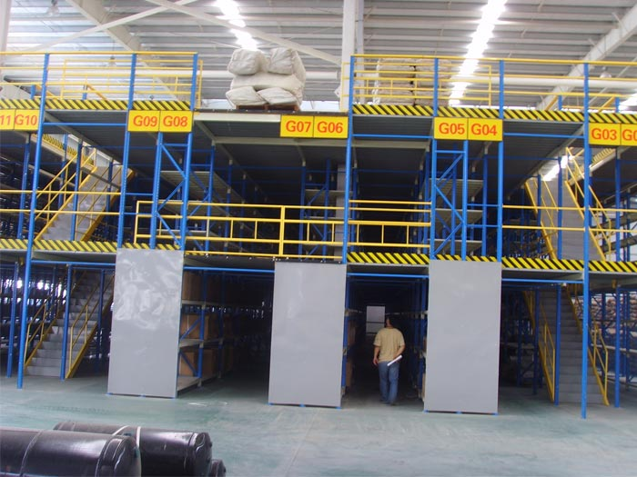 Warehouse Mezzanine Floor Pallet Racking System