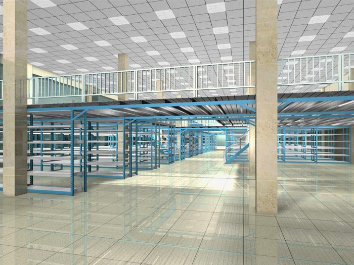 Warehouse Mezzanine Floor Pallet Racking System