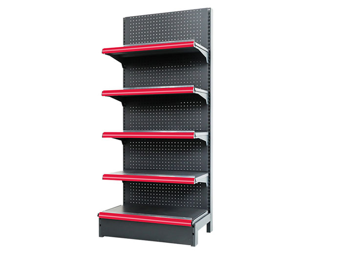 Single side metal steel supermarket shelving for walmart