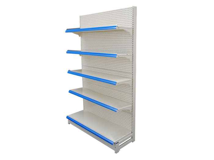 Single side metal steel supermarket shelving for walmart