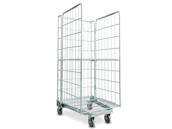 folding logistics trolley rolling container cage for sale