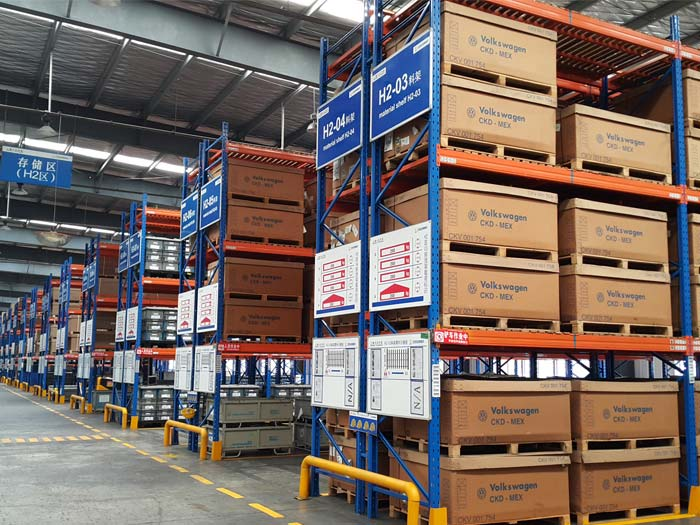 warehouse storage pallet racking system