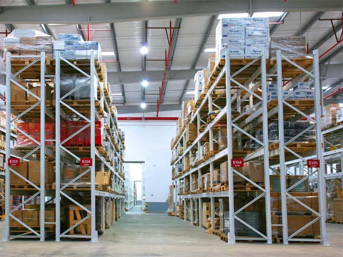 warehouse storage pallet racking system