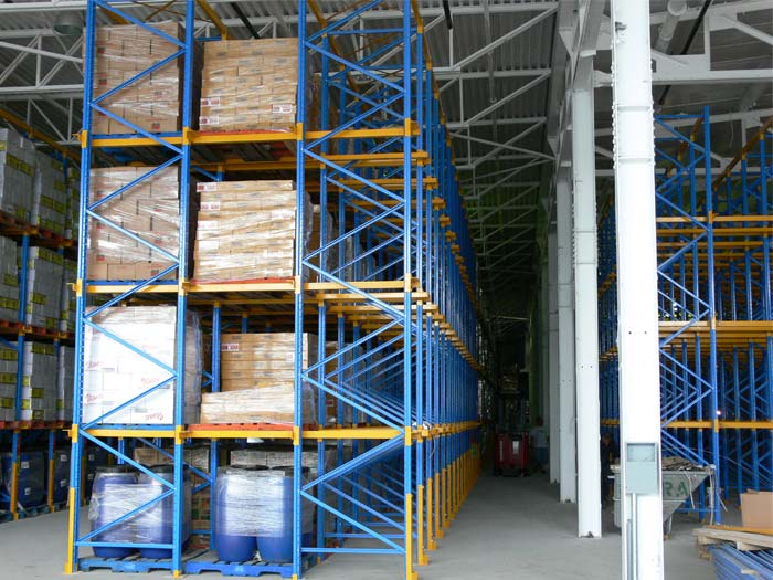 Cold warehouse drive in pallet racking system dimensions
