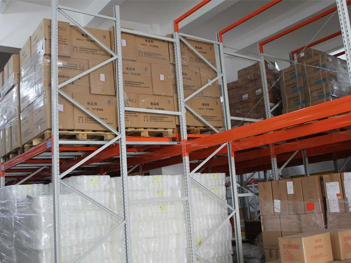 warehouse used push back racking system China manufacturers