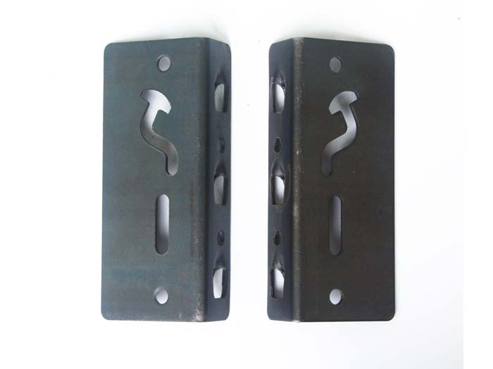 Metal post and beam connector brackets used for racking system