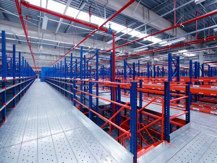 Customized Factory Warehouse Mezzanine Floors Racking System