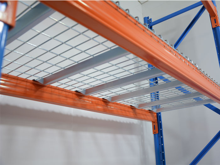 Warehouse welded wire mesh decking railing for pallet racking