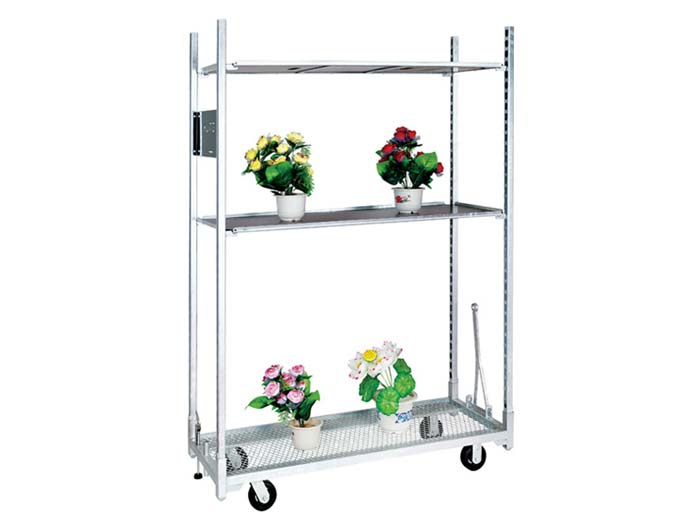 Hot galvanizing danish metal garden flower cart wholesale