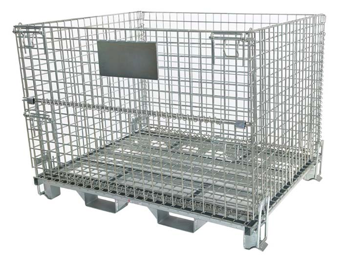 Eu Style Heavy Duty Steel Wire Container Cages For Storage