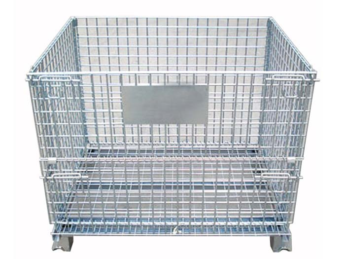 Warehouse used collapsible wire mesh storage cage containers