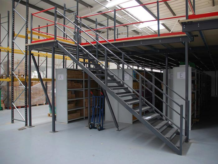 Factory mezzanine floor racking plaforms for warehouse