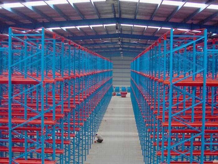 Warehouse new design steel drive through storege pallet racking system