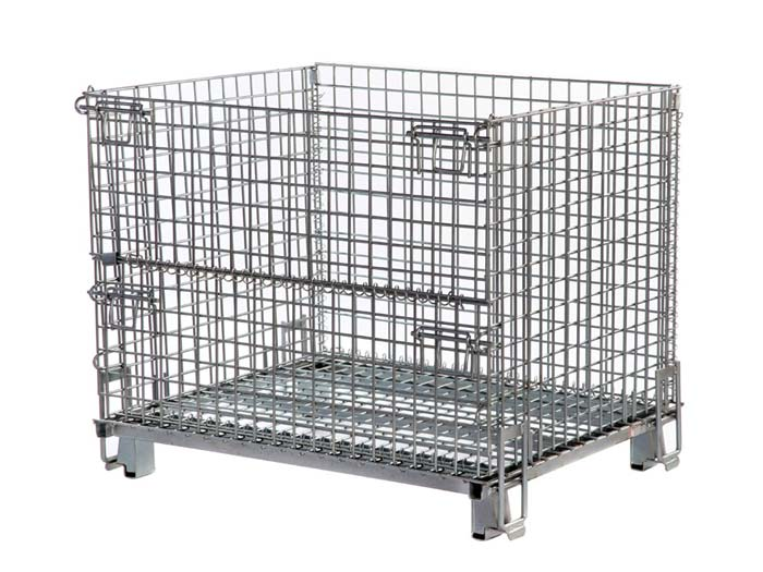 Heavy duty wire mesh container cage storage units manufacturer