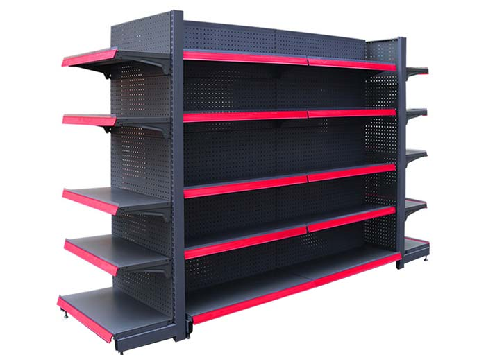 Supermarket gondola display shelving systems manufacturers
