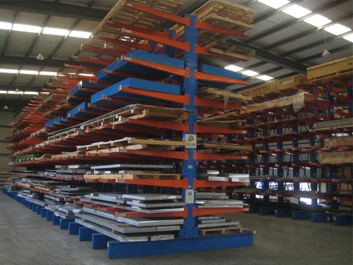Cantilever Material Lumber Storage Pallet Rack Shelving