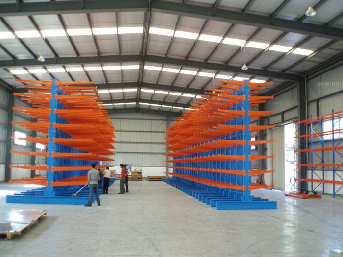 Cantilever Material Lumber Storage Pallet Rack Shelving