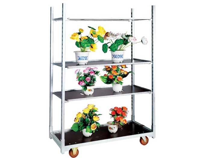 Steel Danish Plant Flower Trolley Cart For Sale
