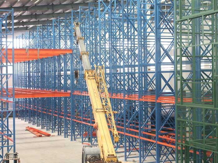 Warehouse Steel Double Deep Pallet Racking Rystem Design