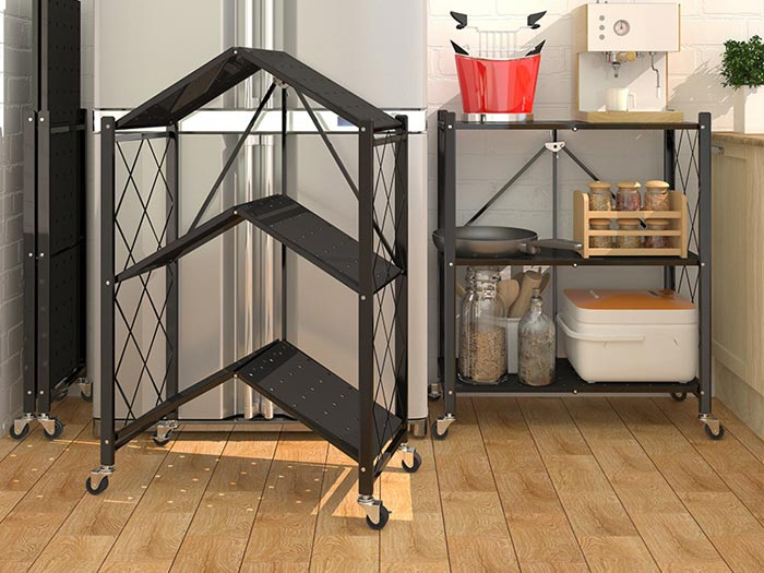 Lightweight Household Foldable Steel Shelf Racks