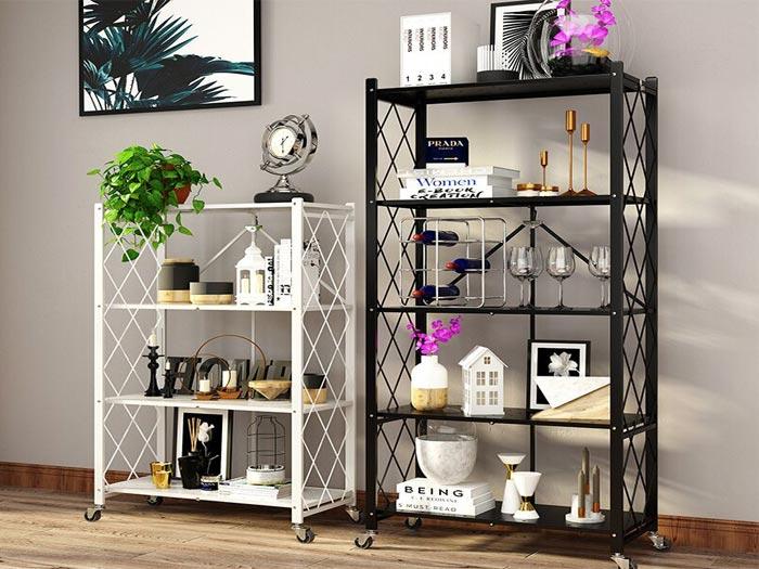 Lightweight Household Foldable Steel Shelf Racks