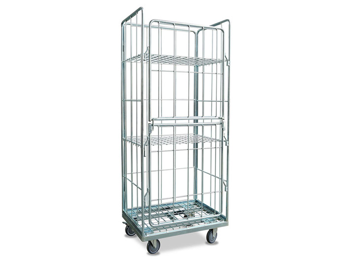 Platform Logistics Steel Mesh Trolley Cart