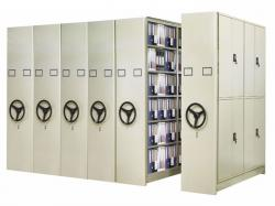 Mobile file acheieve shelving system used for library