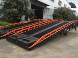 Hydraulic yard mobile dock ramp for warehouse