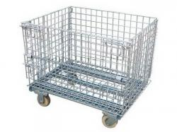 Foldable metal wire rolls container storage cages for sale