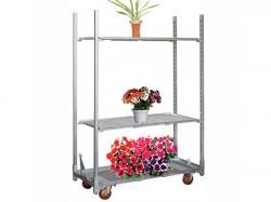 Light duty greenhouse flower net mesh plant rack
