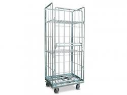 Platform Logistics Steel Mesh Trolley Cart